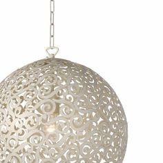 Hanglamp ORIENTE Kleur: Antiek Wit / Dia 40 cm - Simply Pure - De Nr.1 in houtsnijwerk wandpanelen, houten wandpanelen, houten wanddecoratie, houtsnijwerk panelen, houten wandkunst en andere interieur decoratie.
