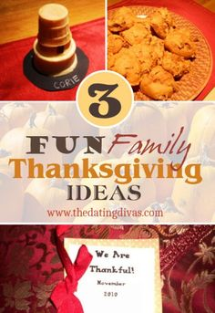 Easy and fun family Thanksgiving traditions. www.TheDatingDivas.com #thanksgiving #familyfun