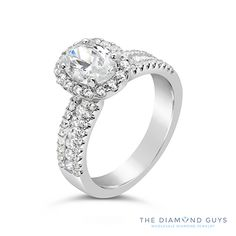 Diamond Halo Engagement Ring Setting - The Diamond Guys Collection