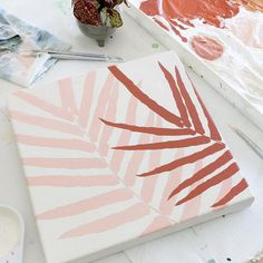 Glad to be back in my studio making new work again! We traveled around New Zeala… Simple Canvas Paintings, Easy Canvas Art, Small Canvas Art, Cute Paintings, Mini Canvas Art, Aesthetic Painting, Diy Painting, Painting Inspiration, Diy Art