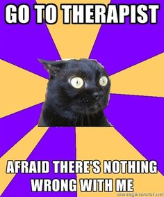 Anxiety Cat is my new favorite. We have so much in common!