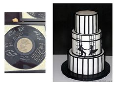 50s wedding theme ideas | Vinyl records transport you back in time and these cute table ...