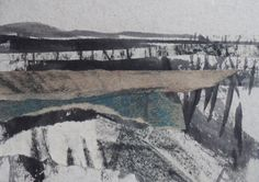 "Original art postcard by Janine Baldwin, pastel, charcoal, graphite and acrylic collage on card, 4""x6"", £20 https://www.etsy.com/uk/shop/JanineBaldwinArt?ref=hdr_shop_menu"
