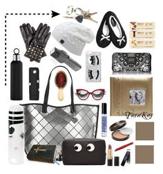 """Tote"" by tarakaypoly ❤ liked on Polyvore featuring Calvin Klein, Fetco, AERIN, COVERGIRL, Revlon, Tweezerman, blomus, Elegant Touch, Loungefly and Chiara Ferragni"