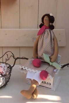 Decoración - XL encantadora muchacha de la cereza - Casa de Campo - Deco - una pieza de diseño de BABAJAGAS-Naehstuebchen en DaWanda