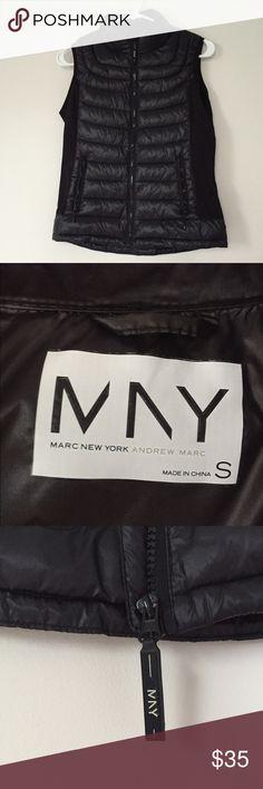 Black bubble vest Warm, comfy zip-up bubble vest. Some pilling on the sides from storage. Andrew Marc Jackets & Coats Vests