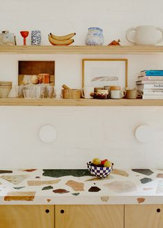 Melbourne House, The Design Files, Garden S, Terrazzo, House Tours, Interior Inspiration, Floating Shelves, Annie, Art Director