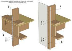 Рис. 9.36 Анкеровка деревянных каркасных стен к междуэтажному перекрытию с…