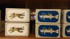 Tins Swimming Upstream At DeLaurenti, Pike Place, Seattle One of the best surprises I had in town