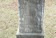 Between the Gate Posts: Tombstone Tuesday Thomas and Luisa Crossley #genealogy #familyhistory