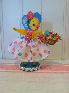 Vintage Style Bump Chenille Easter Chick Figure by artzeeshell on Etsy https://www.etsy.com/listing/285652281/vintage-style-bump-chenille-easter-chick