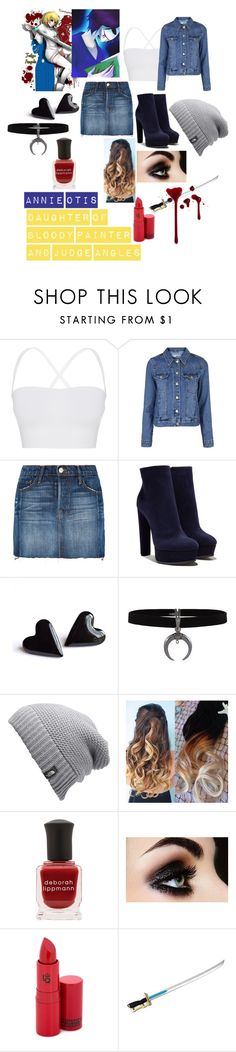 """Annie Otis"" by emma0502 on Polyvore featuring Theory, Topshop, Frame, Casadei, The North Face, Deborah Lippmann and Lipstick Queen"