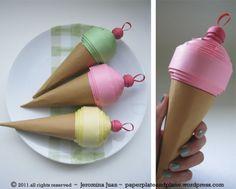 Paper Ice Cream Cones.