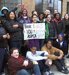 Hats off to these Illinois 8th graders who are helping their local shelter--way to go! Your students can make a difference for animals, too. Check out www.teachkind.org for more information! #humaneeducation #adoptdontshop #teachers #kindness #animalrights