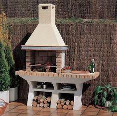 tezgahlı barbekü – – Rebel Without Applause Outdoor Kitchen Patio, Outdoor Oven, Outdoor Fire, Outdoor Spaces, Outdoor Living, Outdoor Decor, Garden Bbq Ideas, Design Barbecue, Barbacoa Jardin