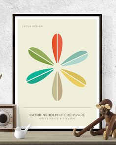 Cathrineholm Mid Century Modern Art Print. This beautiful print is from a set of four designs inspired by the work of Grete Prytz Kittelsen at Cathrineholm.  The full series is available in our shop.  This is gallery quality print using heavyweight 200gsm matte paper and archival inks for super saturation and long lasting color. The print is unframed and includes a small white border for mounting.  U.S orders shipped from the U.S. EUROPEAN orders shipped from Europe. All other countries…