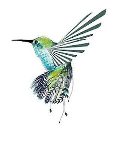Hummingbird watercolors