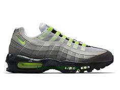 san francisco 17196 7d987 Nike Air Max 95 OG Chaussures Officiel Basket 2018 Pas Cher Pour Homme Noir  Vert 554970