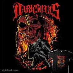 """Metal Dark Souls"" by draculabyte Heavy metal design inspired by Dark Souls Dark Souls 2, Day Of The Shirt, Praise The Sun, Nerd, Metal T Shirts, Business Design, Heavy Metal, Design Trends, Pop Culture"