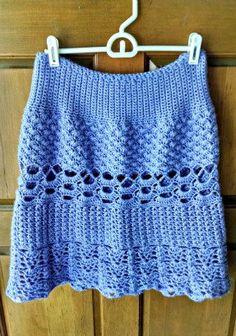 Loops and Shells Crochet Skirt Pattern by SuperMomCrochet on Etsy