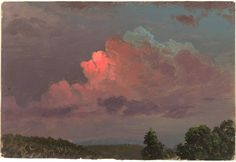 """Study. Sky after sunset."", August 1872 - Hudson River School."