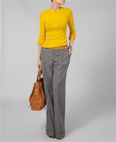 different color top, but i like the style for clinical's/life after grad school Business Style, Business Fashion, Pants Style, Serious Business, Spring Fever, Professional Outfits, Outfit Combinations, Office Style, Palazzo Pants