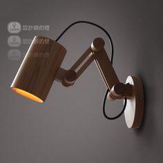 цена: 6 492р В конструктор европейского стиля спальня лампы IKEA персонализированные подарки ретро древесины дуба катапульты бра купить на AliExpress