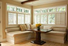 Cushions & pillows below windows Kitchen - traditional - kitchen - san francisco - Shannon Malone