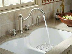 Kohler Langlade Smart Divide Double Basin Cast Iron Sink