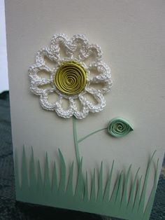 mixed crochet and paper quilling