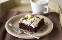 Thought there was no such thing as low-fat delicious chocolate cake? Italian master baker Gino D'Acampo has the perfect recipe for a tempting chocolate and pineapple cake. Visit goodtoknow for more Gino recipes and cake recipes. Low Fat Chocolate, Tasty Chocolate Cake, Best Cake Recipes, Dessert Recipes, Desserts, Diet Recipes, Fat Cakes Recipe, Easy Apple Muffins, Gino D'acampo