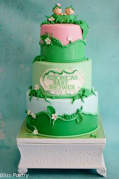 Two Peas In A Pod Baby Shower Cake - Two Peas In A Pod Baby Shower Cake