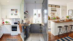 Διαμορφώσεις - σχεδιασμός για Μικρές Κουζίνες Small Spaces, Small Space, Tiny Spaces