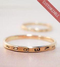 Custom Stamped Gold Ring