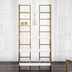 Find a Tinley Etagere Bookcase By Willa Arlo Interiors Bookshelf Storage, Cube Bookcase, Etagere Bookcase, Bookcases, Office Bookshelves, Art Storage, Solid Wood Shelves, White Shelves, Glass Shelves
