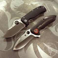 everyday_tactical A little #knifethursday shot of a couple of awesome blades from @Spyderco_Inc, the Lil' Lionspy and the Rubicon side by side. Size wise they are very very similar. Read more at http://websta.me/p/878518901716654613_251574709#zrZ5PUmYe5uCiJQ0.99