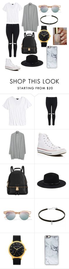 """Untitled #11"" by natashaasante on Polyvore featuring Topshop, MANGO, Converse, Michael Kors, Forever 21, Le Specs and Zero Gravity"