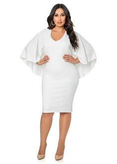 1fe9703ee76 V-Neck Batwing Sleeves Bodycon Dress Club Dresses