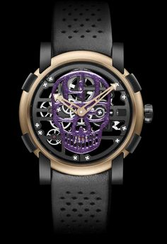 Today officially released - RJ-Romain Jerome and HardNine Choppers collaboration! The unique purple/gold HardNine Chopper's customized Harley, and a . Romain Jerome, Choppers, Cool Watches, Casual Watches, Men's Watches, Luxury Watches For Men, Automatic Watch, Custom Jewelry, Collaboration