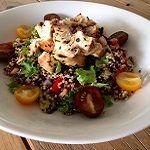 Quinoa met kip en pesto