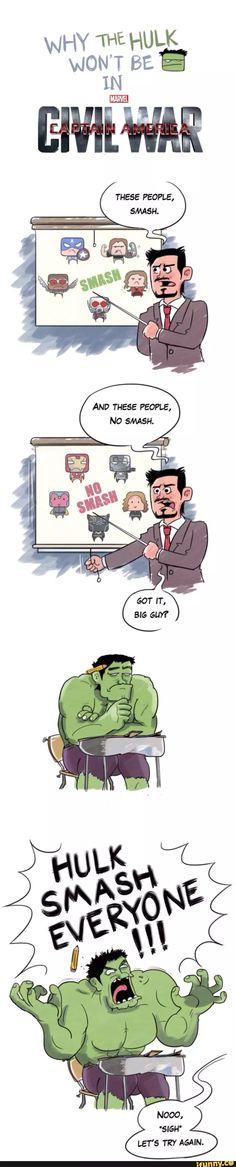 Why hulk isn't in civil war