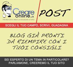 Scrivi articoli su quello che ti piace e guadagna online con Adsense, CreareonlinePost -> http://www.creareonline.it/2012/03/scrivi-articoli-su-quello-che-ti-piace-e-guadagna-online-con-adsense-creareonlinepost-0016304.html By Creareonline.it