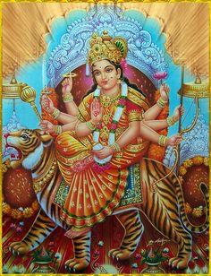 Receive Nine-Fold Blessings from Powerful Forms of Goddess Durga on Auspicious Ugadi. Shiva Art, Hindu Art, Durga Kali, Cosmic Egg, Vaishno Devi, Spiritual Images, Spiritual Path, Lord Vishnu Wallpapers, Divine Mother