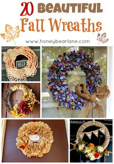 Get inspired for fall with these 20 beautiful fall wreaths.