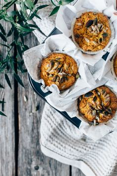 savory carrot & zucchini muffins