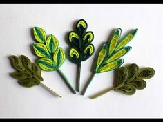 Quilling Leaves Tutorial | Twisted Quilling Leaf - YouTube