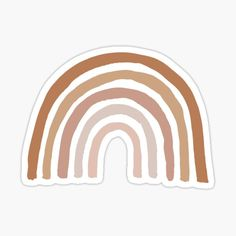 """Aesthetic Boho Shades of Brown Neutral Bohemian Rainbow"""" Sticker by designclaw 