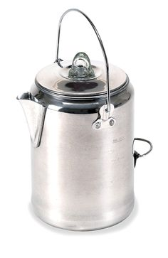 Cup Pot 9 Aluminum Camping Coffee Camper Percolator Outdoor Hiking Tea Stansport #Stansport