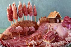 yummy landscape! with ham salami and bread :)