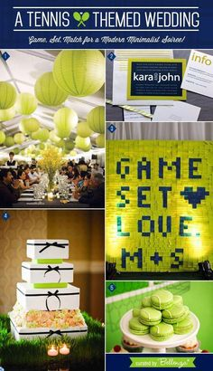 Take a different approach to planning your wedding modern and minimalist touches like this tennis themed wedding. Find more tennis ideas, quotes, tips, and lessons at Tennis Cake, Tennis Party, Sports Party, Tennis Lessons, Tennis Tips, Tennis Decorations, Tennis Crafts, Tennis Funny, Bridesmaid Luncheon